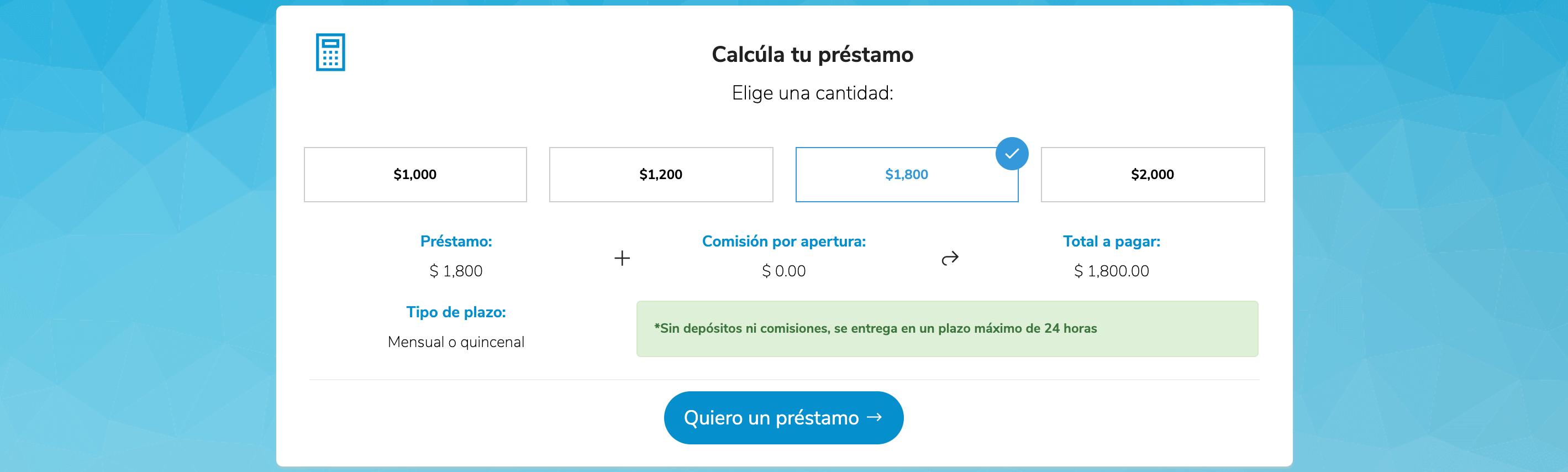 CrediClic primer préstamo de hasta 2000 pesos sin intereses!